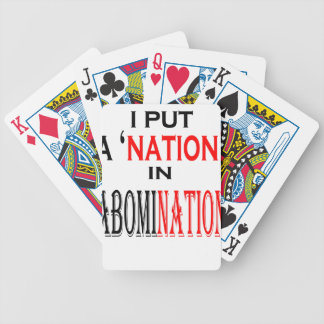 put abomination nation naming nonsense weird black poker deck