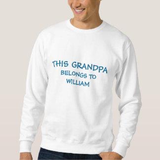 Put grandkids names on Grandpa's Sweatshirt