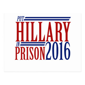 Put hillary in prison 2016 postcard
