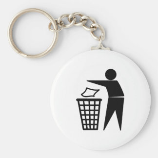 Put it in the Bin Basic Round Button Keychain