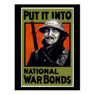 Put It Into National War Bonds Postcard