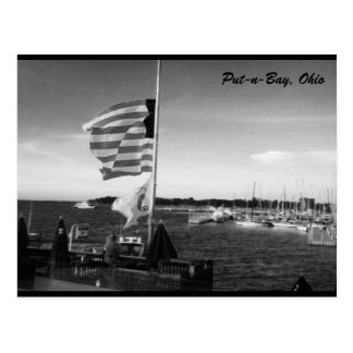Put-n-Bay American Flag Photo Postcard