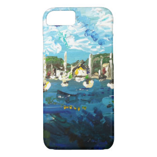 Put-n-Bay Island Boat Painting #2 iPhone 7 Case