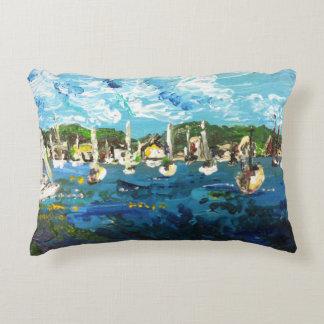Put-n-Bay Lake Erie Island Painting #1 Pillow