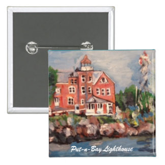 Put-n-Bay Lighthouse Painting on a Button