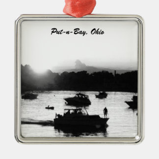 Put-n-Bay, Ohio Boat Silhouette Ornament