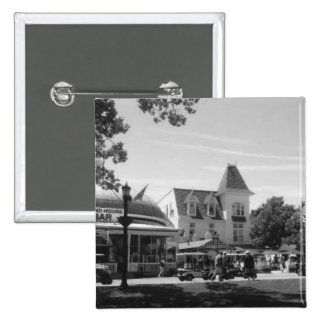 Put-n-Bay Village black and white photo 2 Inch Square Button