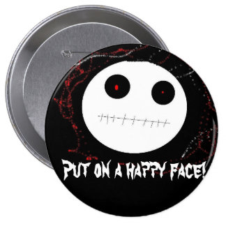 Put on a happy face pin