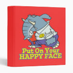 put on your happy face facade elephant binder