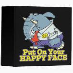 put on your happy face facade elephant vinyl binders