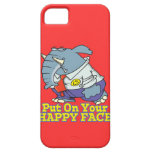 put on your happy face facade elephant iPhone 5 cover