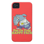 put on your happy face facade elephant iPhone 4 Case-Mate case