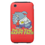 put on your happy face facade elephant tough iPhone 3 cases