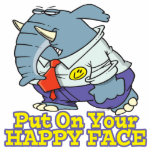 put on your happy face facade elephant cut out