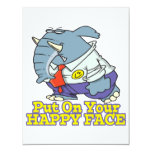 put on your happy face facade elephant invitation