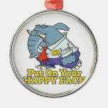 put on your happy face facade elephant christmas tree ornaments