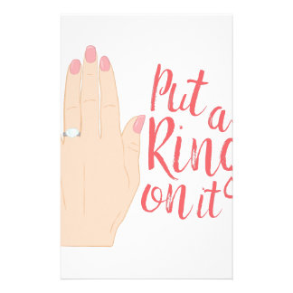 Put Ring On It Personalized Stationery