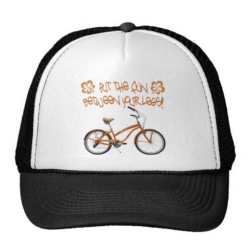 Put the FUN between your legs - Orange Mesh Hats