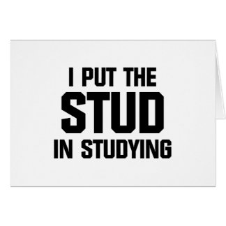 Put the Stud in Studying Card