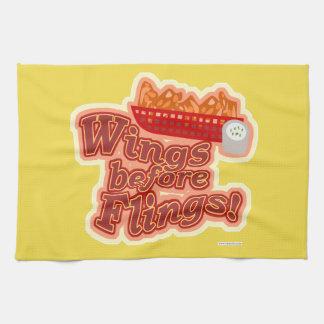 Put Wings before Flings Kitchen Towel