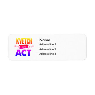 Put your address on this return address label