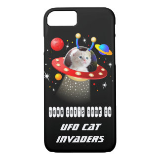 Put your Cat in an Alien Spaceship UFO Sci Fi Film iPhone 7 Case