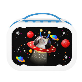 Put your Cat in an Alien Spaceship UFO Sci Fi Lunchboxes