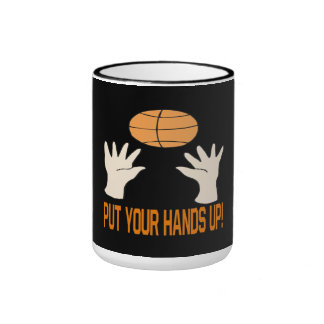 Put Your Hands Up Ringer Coffee Mug