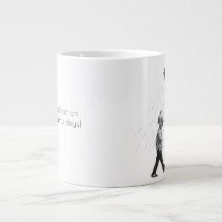 Put your helmet on for rainy days! large coffee mug