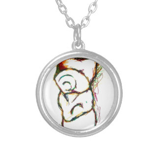 Put your money where your monster is silver plated necklace
