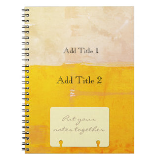 Put Your Notes Together Watercolor Color  Block Notebooks
