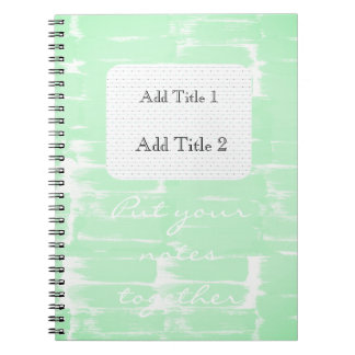 Put Your Notes Together Watercolor Green Notebook