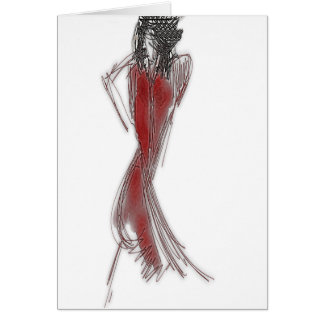 Put Your Red Dress On Card