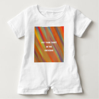 Put your trust in the universe baby romper