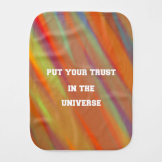 Put your trust in the universe burp cloth