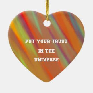 Put your trust in the universe ceramic ornament