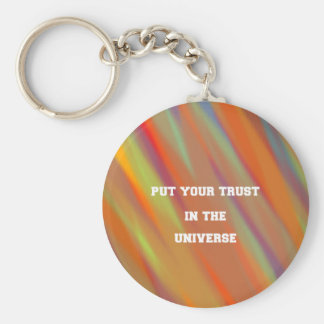Put your trust in the universe keychain