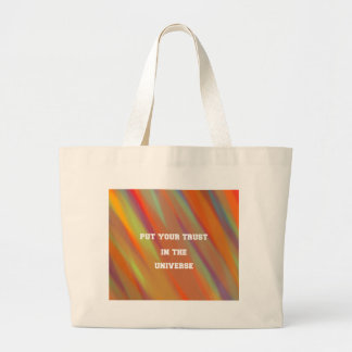 Put your trust in the universe large tote bag