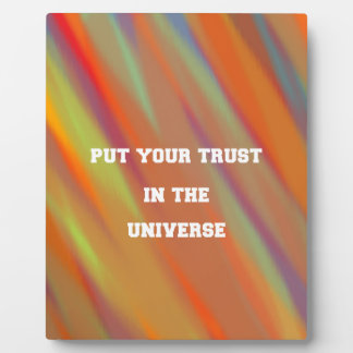 Put your trust in the universe plaque