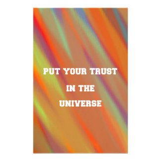 Put your trust in the universe stationery