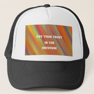 Put your trust in the universe trucker hat