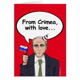 Putin Birthday Card - From Crimea with love - - El