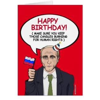 Putin Birthday Card - Keep your candles burning fo