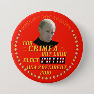 Putin for President USA 2016 3 Inch Round Button