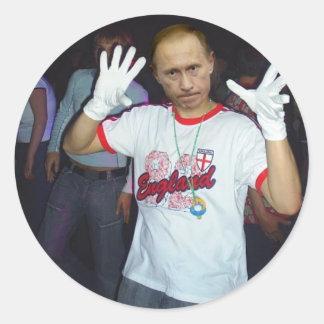Putin Parties Round Sticker