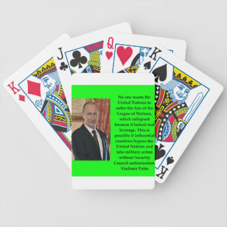 putin quote bicycle playing cards