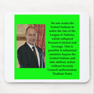 putin quote mouse pad