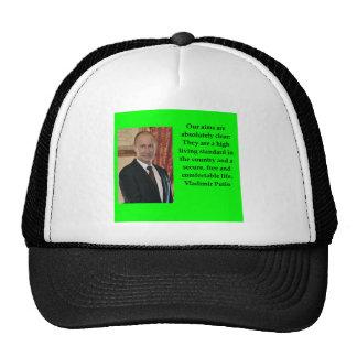 putin quote trucker hat