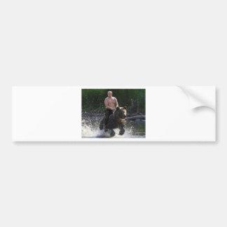 Putin rides a bear! bumper sticker