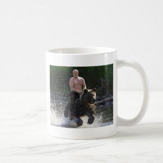 Putin rides a bear! classic white coffee mug